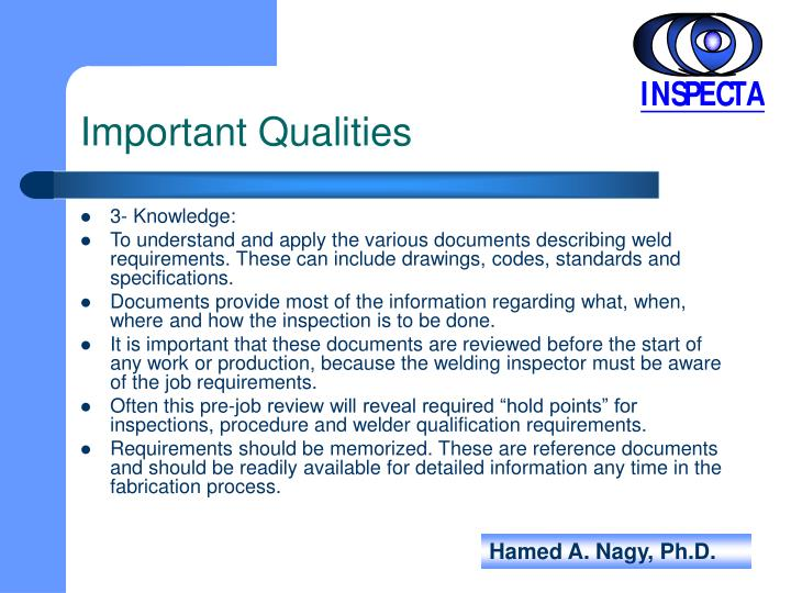 Important Qualities