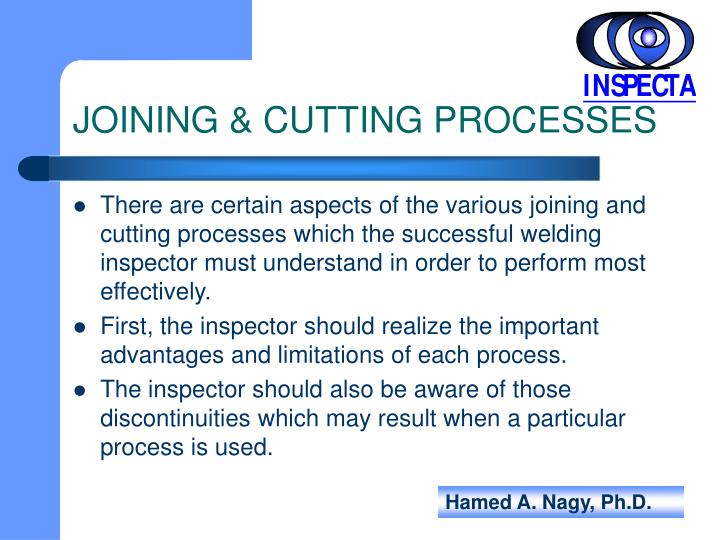 JOINING & CUTTING PROCESSES