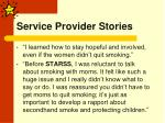 service provider stories
