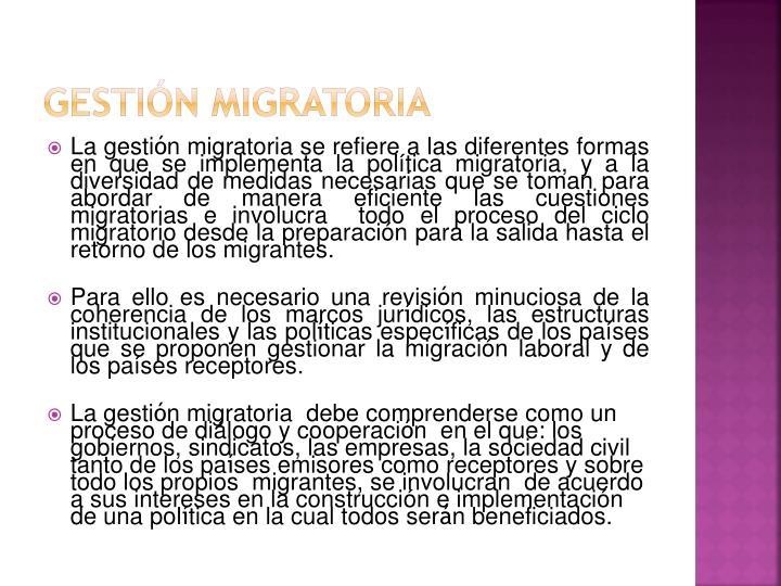 Gestión Migratoria