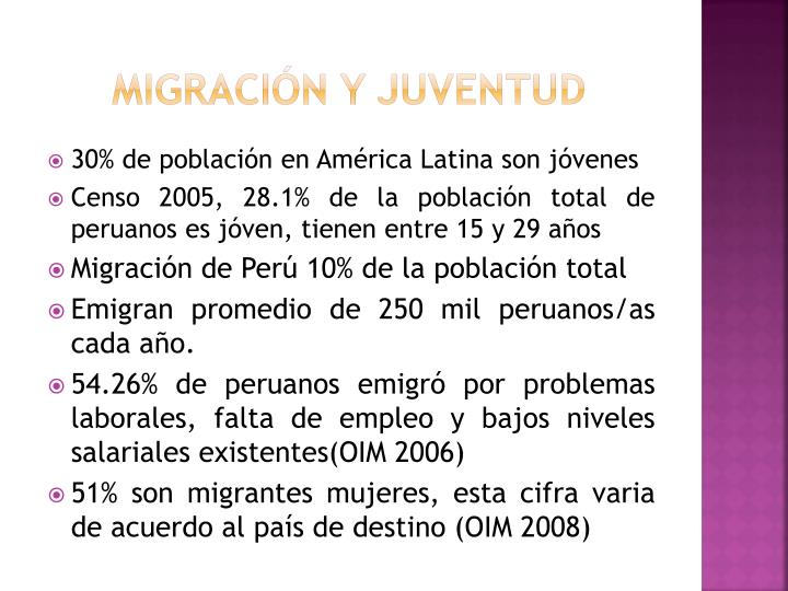 Migración y juventud