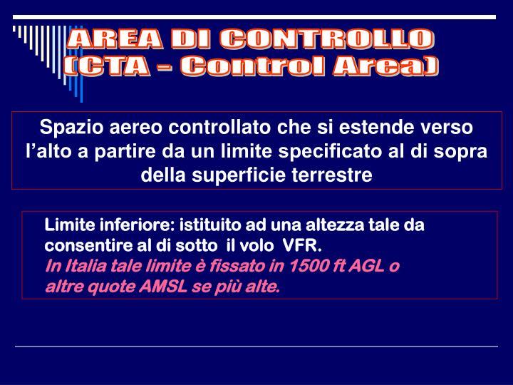 AREA DI CONTROLLO