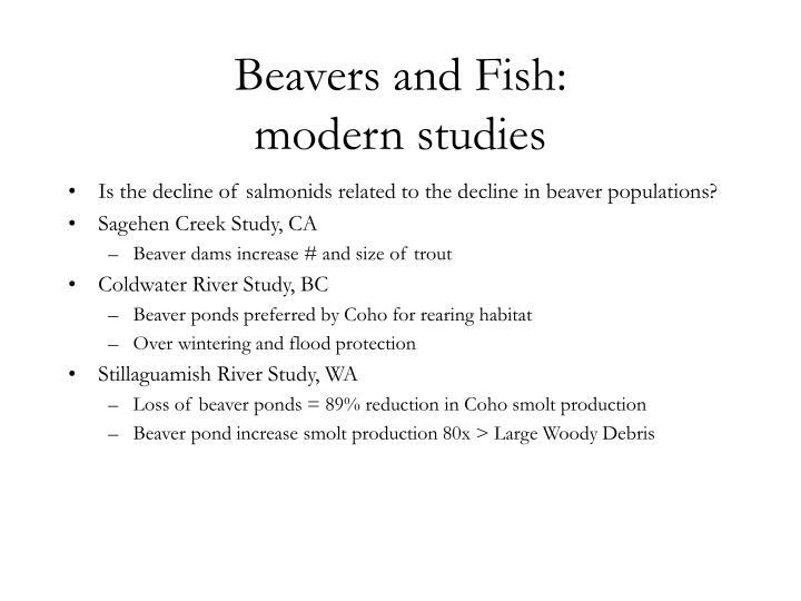 Beavers and Fish: