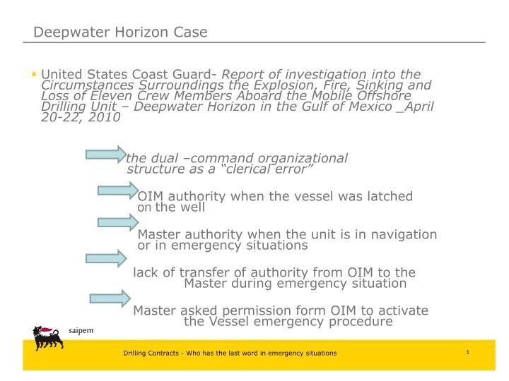 Deepwater Horizon Case