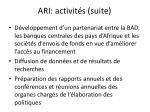 ari activit s suite