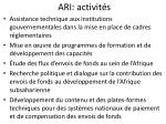 ari activit s