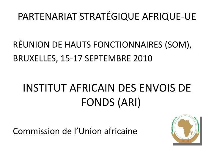 partenariat strat gique afrique ue