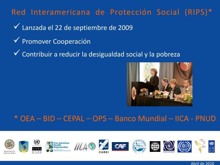 Red Interamericana de Protección Social (RIPS)