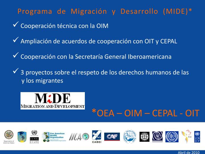 Programa de Migración y Desarrollo (MIDE)