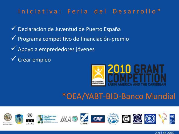 Iniciativa: Feria del Desarrollo*