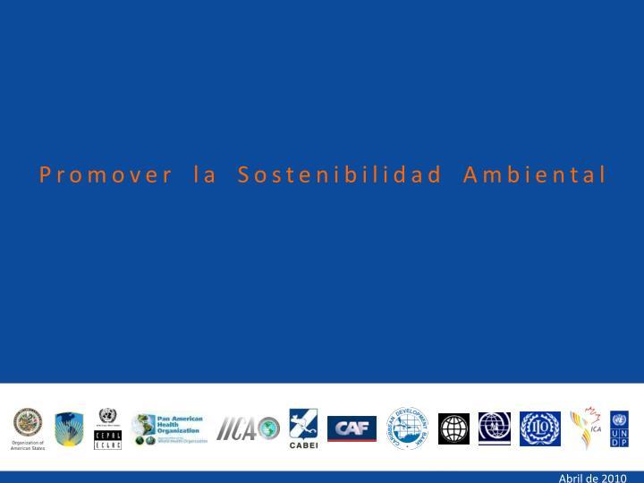 Promover la Sostenibilidad Ambiental