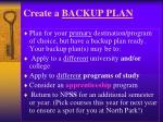 create a backup plan