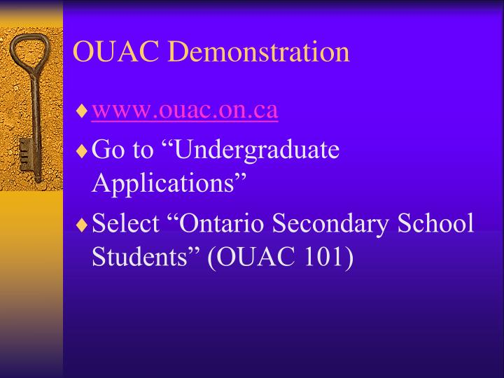 OUAC Demonstration