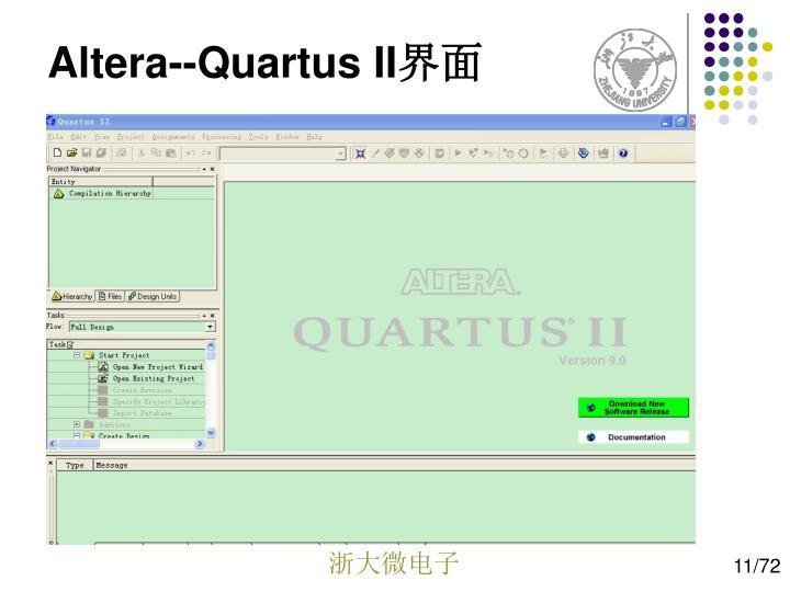 Altera--Quartus II