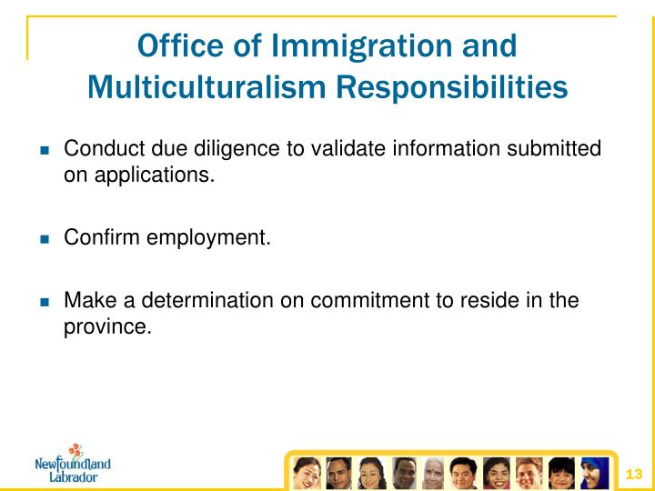Office of Immigration and Multiculturalism Responsibilities
