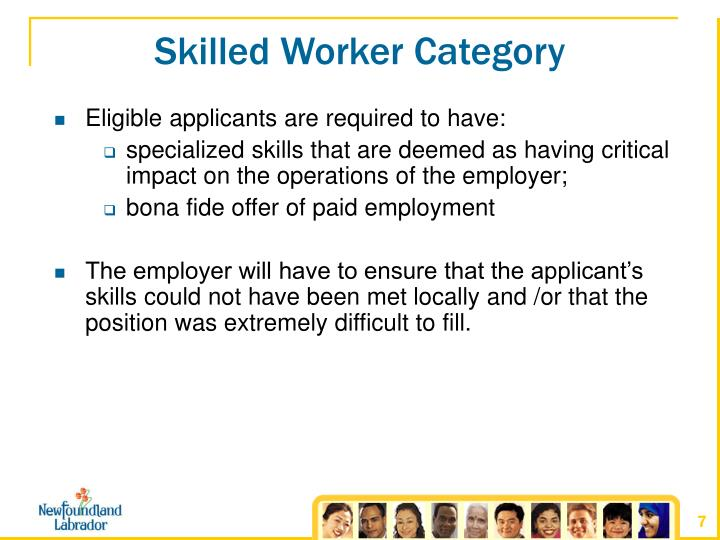 Skilled Worker Category