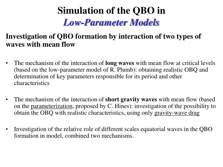 Simulation of the QBO in