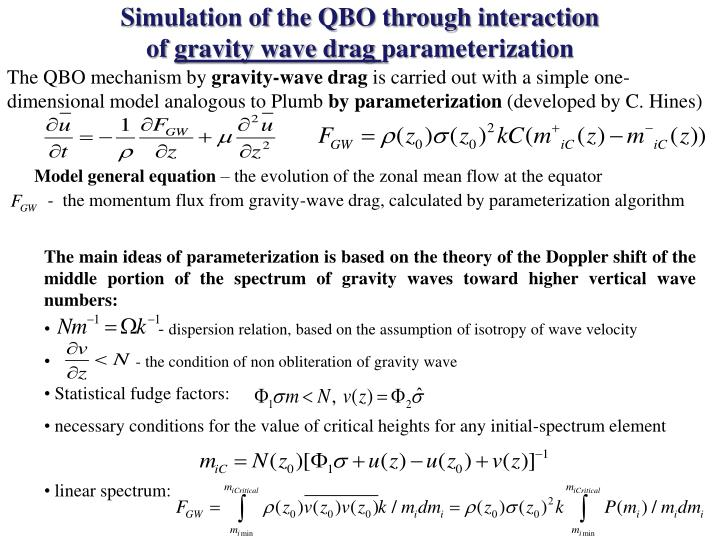 Simulation of the QBO through interaction