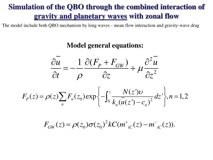 Simulation of the QBO through the combined interaction of