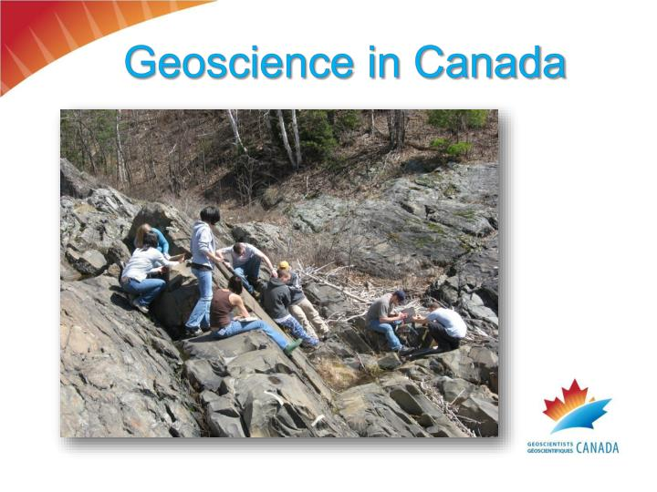 Geoscience in Canada