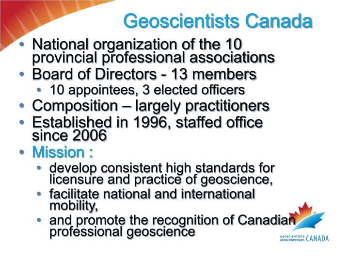 Geoscientists Canada