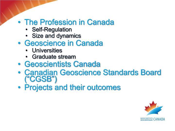 The Profession in Canada