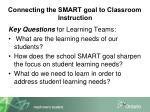 connecting the smart goal to classroom instruction