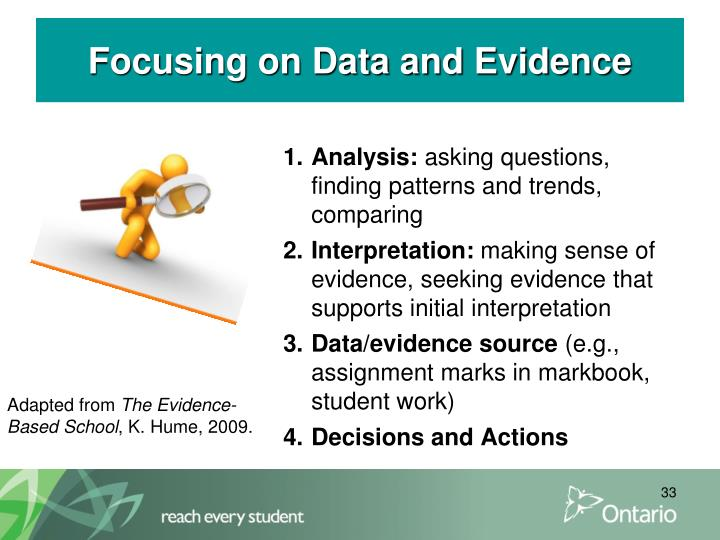 Focusing on Data and Evidence