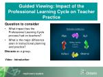 guided viewing impact of the professional learning cycle on teacher practice