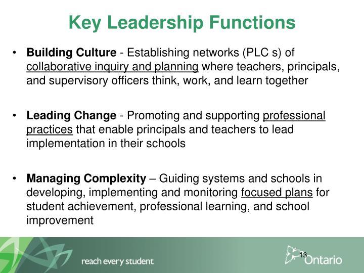 Key Leadership Functions