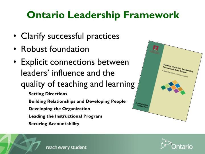 Ontario Leadership Framework