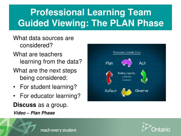 Professional Learning Team