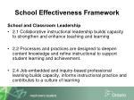 school effectiveness framework1