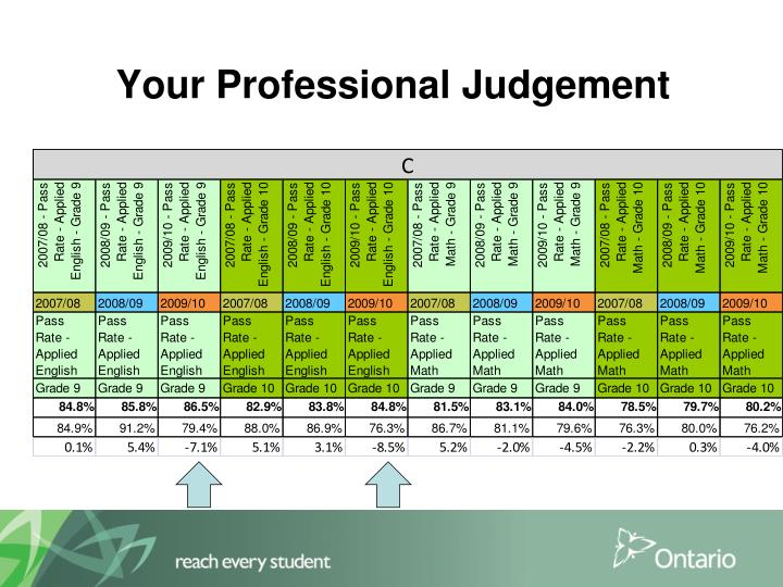 Your Professional Judgement