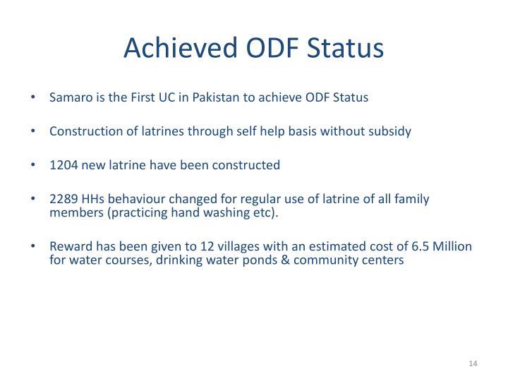 Achieved ODF Status