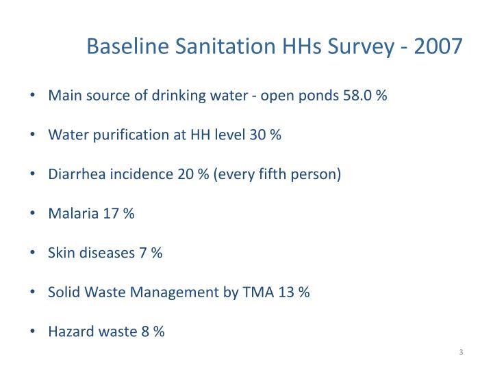 Baseline Sanitation HHs Survey - 2007