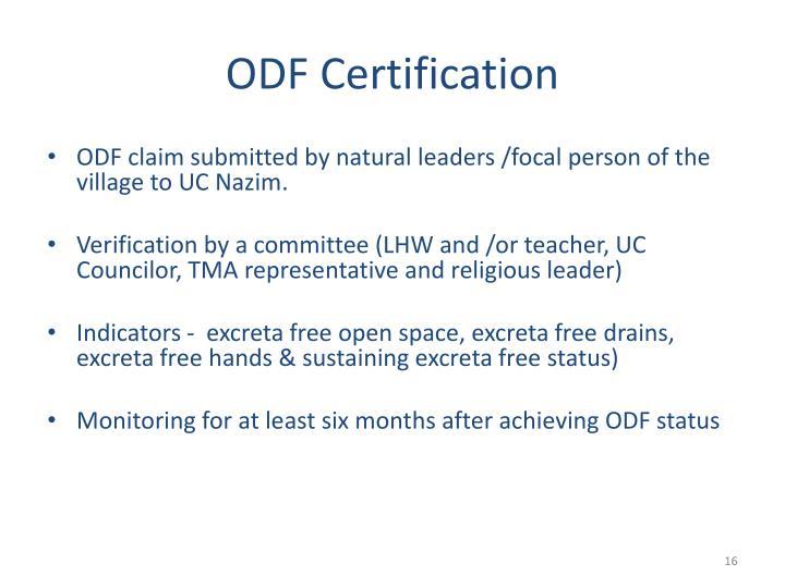 ODF Certification