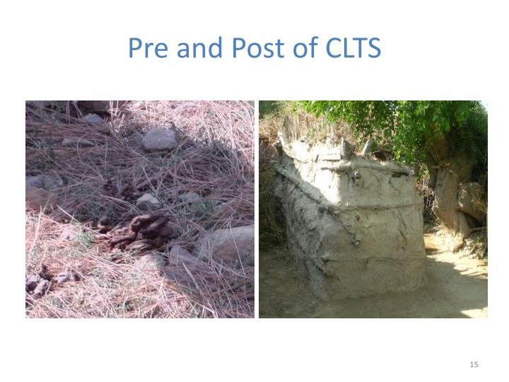 Pre and Post of CLTS