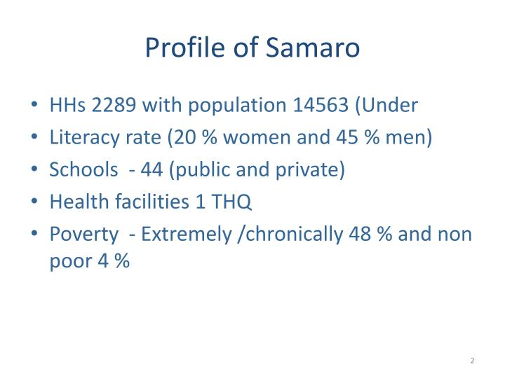 Profile of Samaro