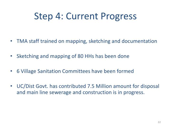 Step 4: Current Progress