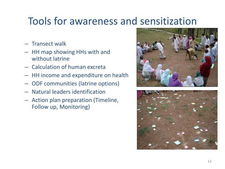 Tools for awareness and sensitization