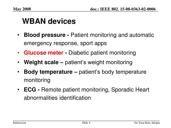 WBAN devices