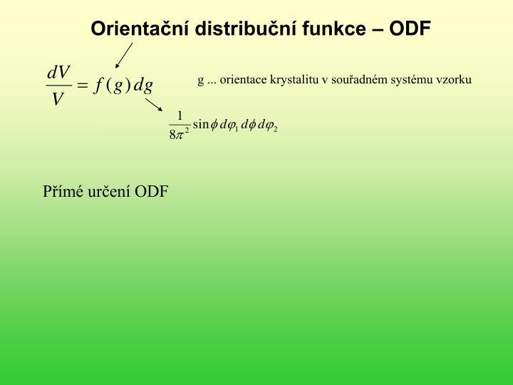 Orientační distribuční funkce – ODF
