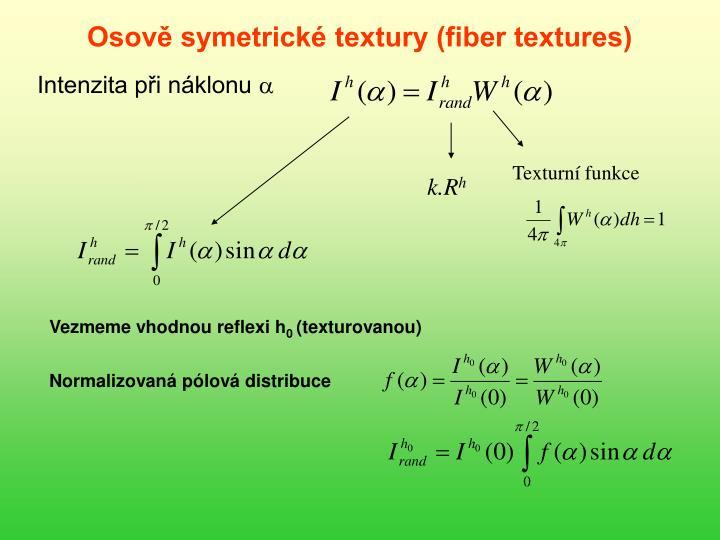 Osově symetrické textury (fiber textures)