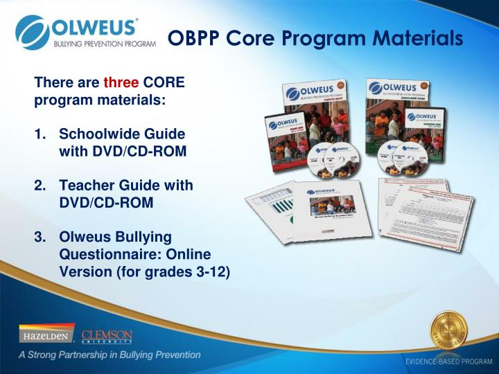 OBPP Core Program Materials