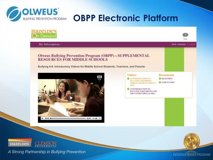 OBPP Electronic Platform