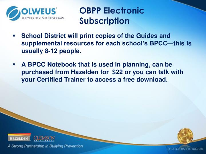 OBPP Electronic Subscription