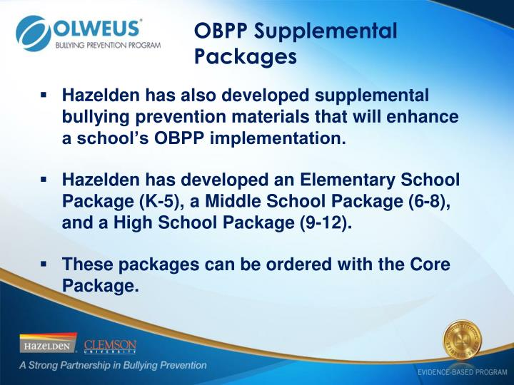 OBPP Supplemental Packages