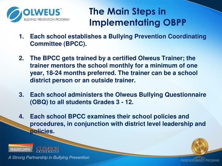 The Main Steps in Implementating OBPP