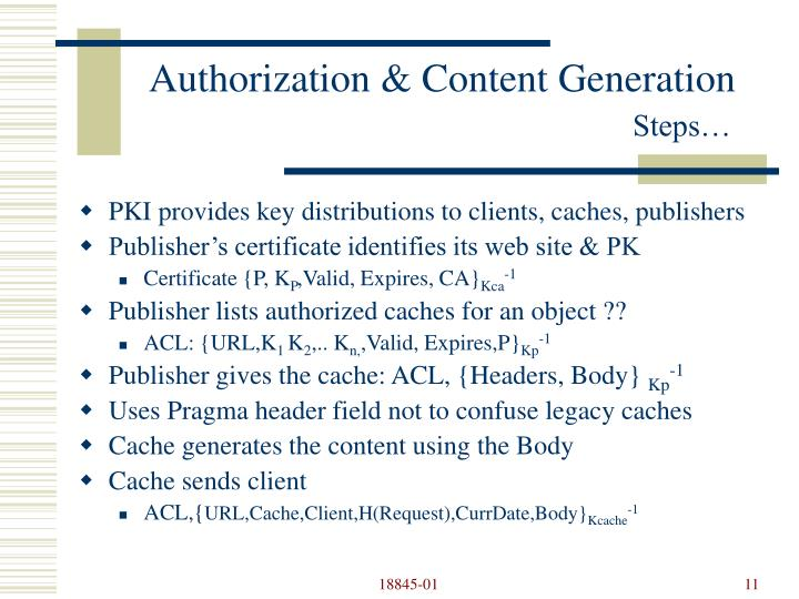 Authorization & Content Generation